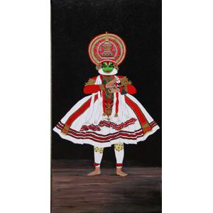 Kathakali Dancer - Acrylic on canvas